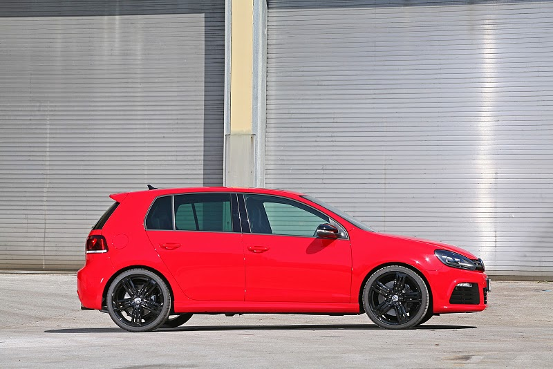 2010 Volkswagen Golf R Red Devil - Rear Angle View