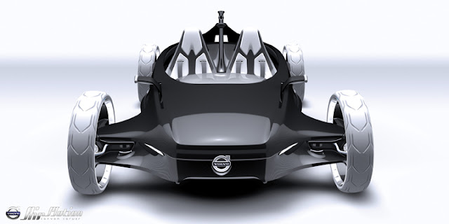 2010 volvo air motion concept front view 2010 Volvo Air Motion Concept
