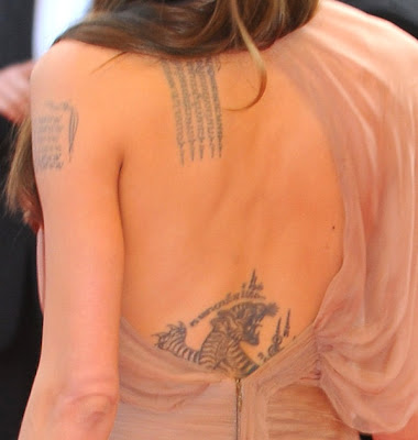 angelina jolie tattoo meaning. New Angelina Jolie Tattoos