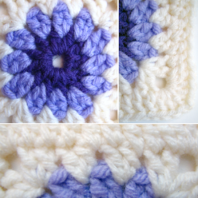 Crochet Patterns Granny Squares Free : ROUND CROCHET GRANNY SQUARE PATTERN Free Crochet