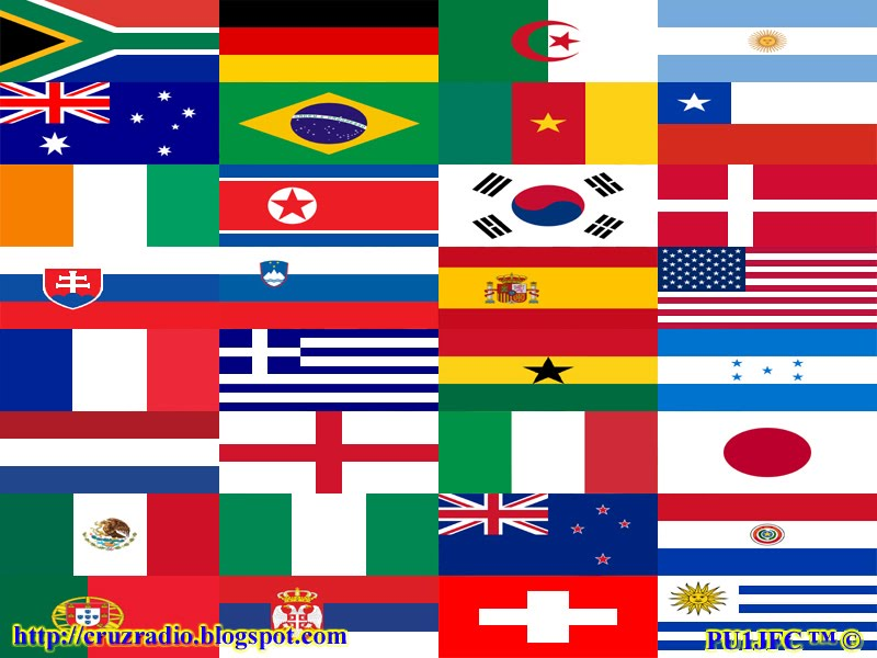 Wallpaper Flags World Cup - Bandeiras Copa do Mundo
