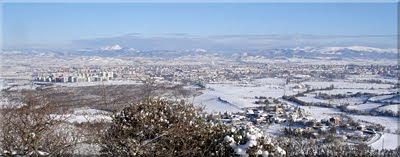 Vista norte durante el ascenso