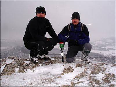 Armikelo mendiaren gailurra 888 m. - 2010eko otsailaren 13an