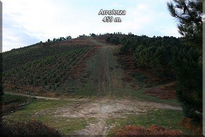 Se ve la cima de Arroletza
