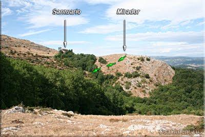 Santuario y Mirador visto desde la Peña