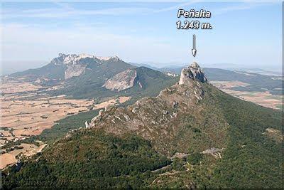 Peñalta visto desde el Castillo de Lapoblacion