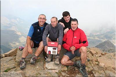 Aspe mendiaren gailurra 2.645 m. -  2009ko irailaren 13an