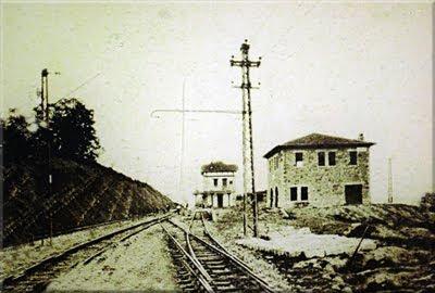 Foto antigua de la Estación de Ullibarri-Jauregi