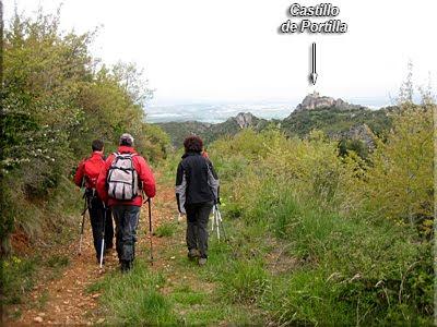 Castillo de Portilla visto desde la pista a media ladera