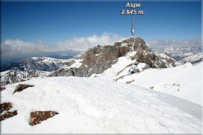 Aspe visto desde el Pico Lecherin