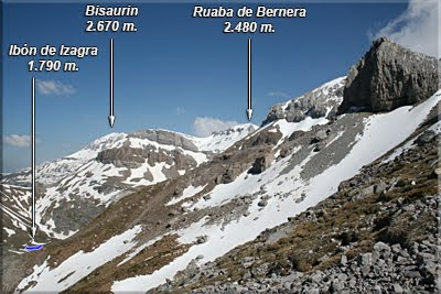 Vistas de Bisaurin durante el ascenso