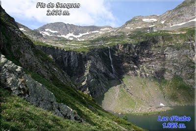 Pic de Sesques, abajo queda el Lac d'Isabe