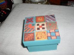 Caixinhas decoradas com colagem