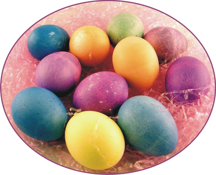easter eggs pictures to color