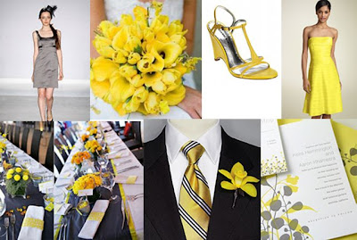 Color Palette I'm Loving: Yellow and Gray via TheELD.com