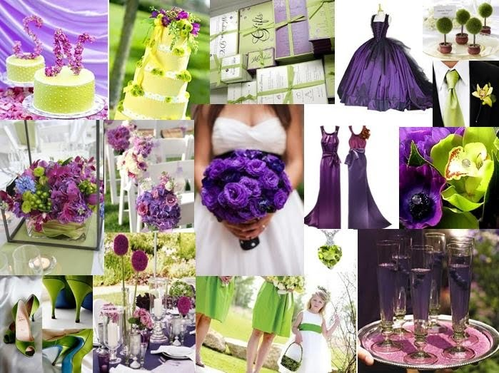 purple blue and green wedding theme a fresh green and