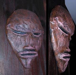 mascara africana papel mache