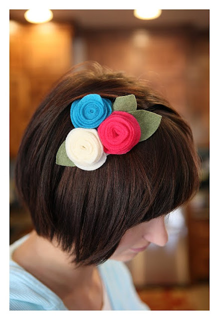 felt flower headbands
