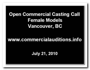 Commercial Casting Call
