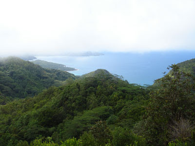 Isla de Mahé desde sus cumbres