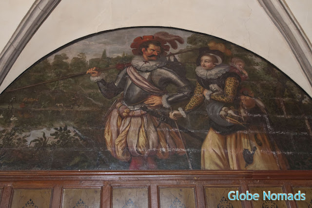Travel, Attractions, United Kingdom, Bolsover Castle, ceiling painting