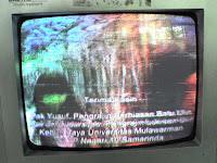 mengatasi gambar tv ada bercakan