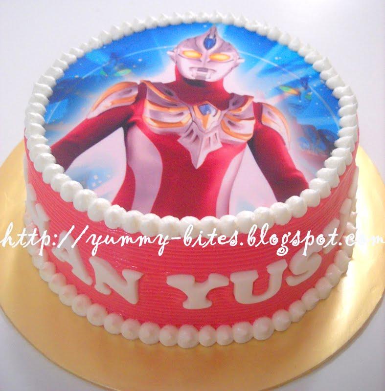 Ultraman Birthday Cake Design : Yummy Bites: Ultraman Cake