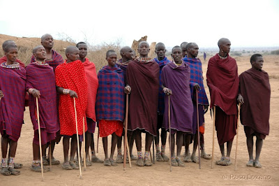 Maasai people in Amboseli, Kenya