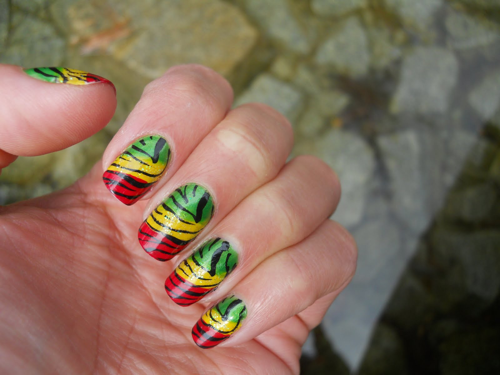Instagram Photos For Tag Jamaicannails Iconosquare Jamaican Nail Art Designs