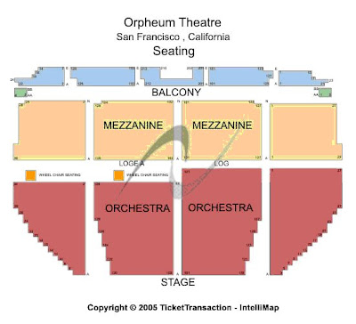 Orpheum theater seating chart check the seating chart here view