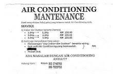 nak pasang aircond di permis/rumah anda? just directly call this number - 0122740753..mr nizam, tq