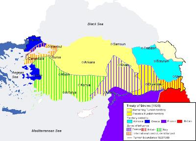 Ο χάρτης της συνθήκης των σεβρών