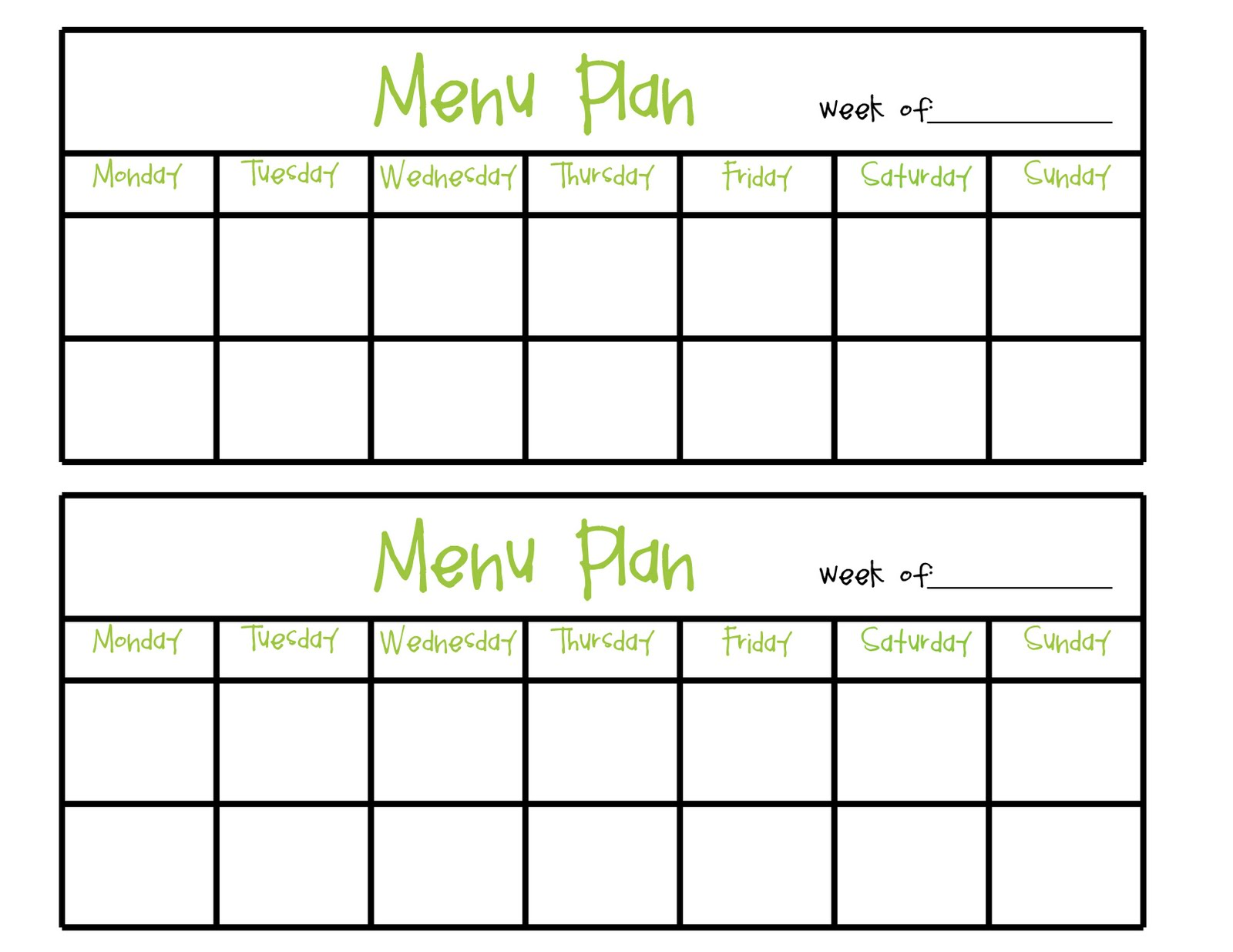 Blank day care menu template pictures to pin on pinterest for Blank daycare menu template
