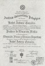Profesor de Educación Física y Deportes. IUPC