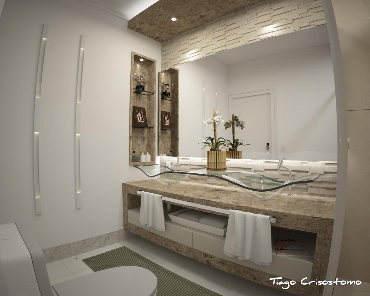 Tiago Crisostomo: Banheiro do casal #5C4F3C 1280x1024 Banheiro Casal Com 2 Cubas