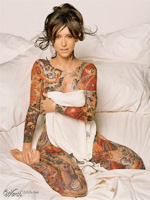 Below is a gathering of photographs of celebrity tattoos