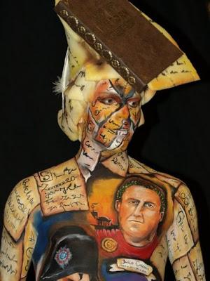 Women body painting art