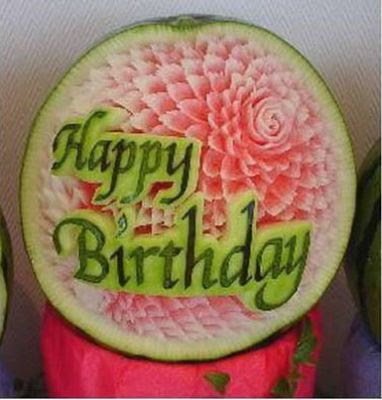 Watermelon carving art - seen at unik4u.blogspot.com