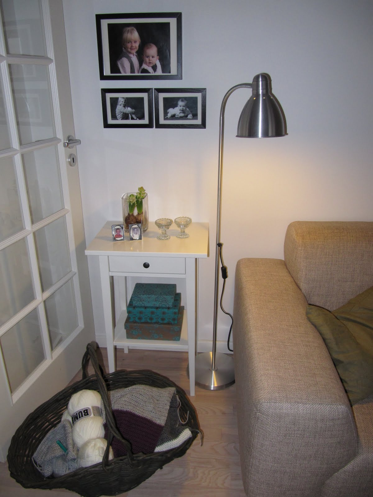Hjemme hos lene: lidt ny indretning i stuen.