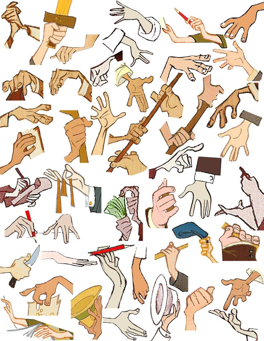 Sala de estudos de Anatomia- Mãos Hands+small