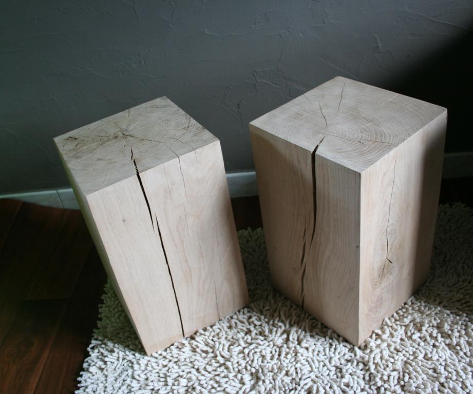 Design for loft cubes de ch ne massif en promo - Cube bois brut ...