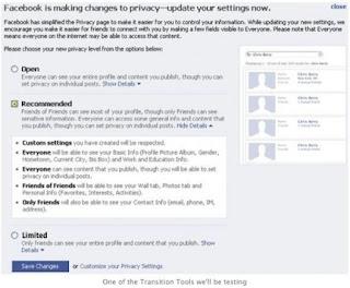 impostazioni facebook