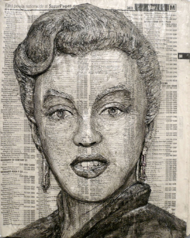 Amazing celebrity phone book carving art golberz