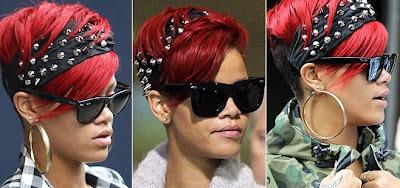 A Rihanna le encantan las cintas/diademas. Tan pronto parece una niña buena como una rockera.