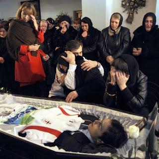 Funérailles de Nodar Kumaritashvili(ნოდარ ქუმარიტაშვილი), 20.02.2010