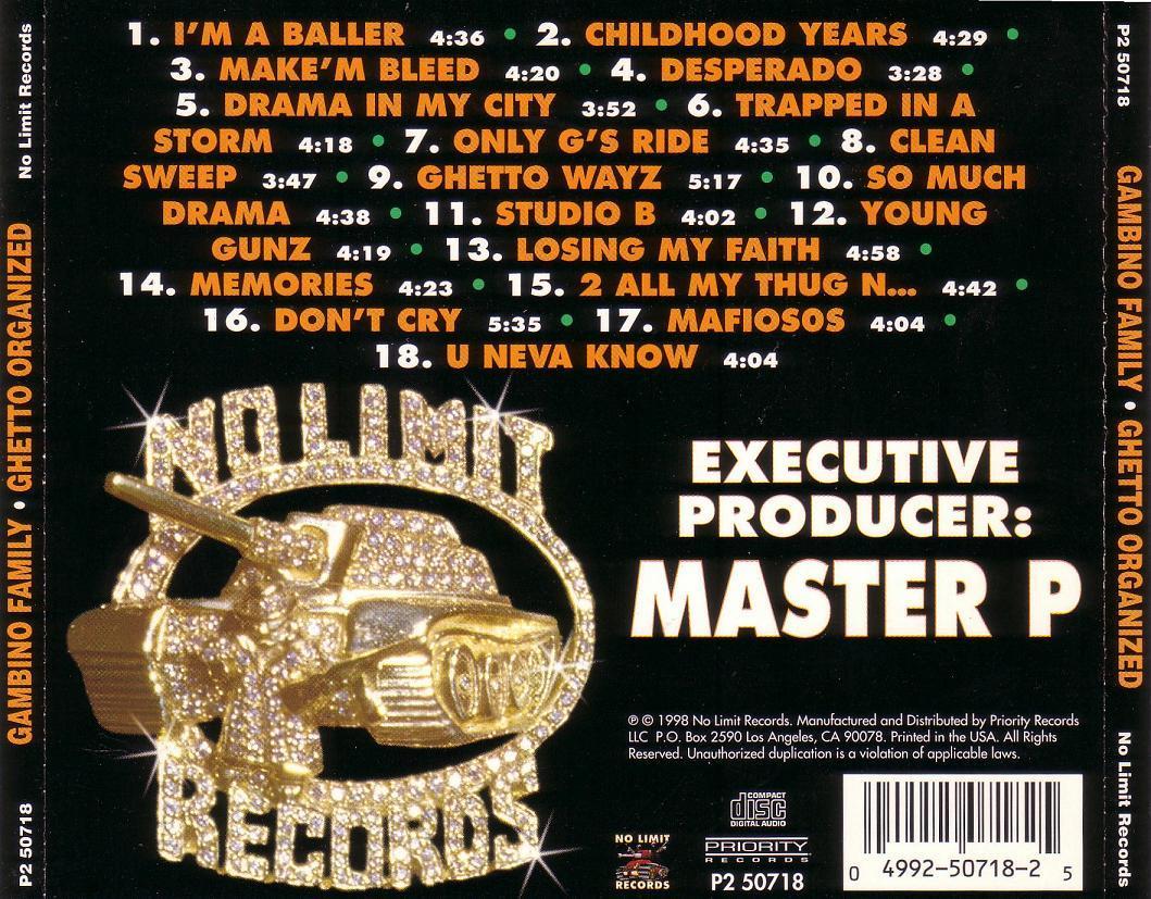 Master P Ghetto D Gambino family - ghettoMaster P Ghetto D
