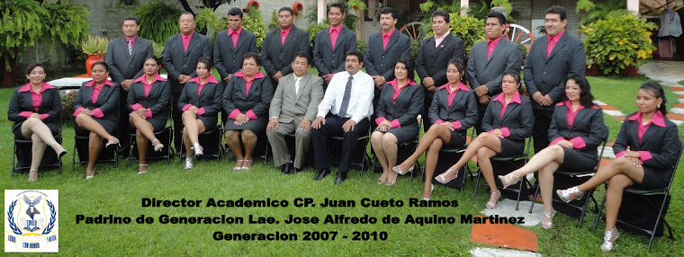 Egresados del Centro Universitario del Valle de Chiapas, CUVACH. 2007 - 2010