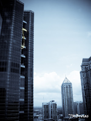 Makati CBD - taken with Canon Powershot SX110 IS; post-processed with Adobe LR2