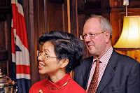 Lord Faulkner of Worcester with Representative Katharine Chang