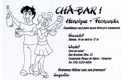 Desenhos Da Fernanda Convite De Chá Bar